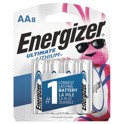 Energizer Lithium AA Batteries 8-Pack