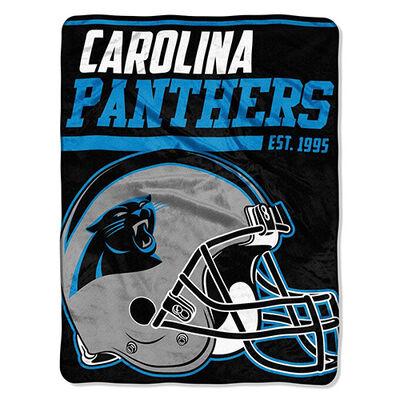 Northwest Co Carolina Panthers Micro Raschel Throw Blanket
