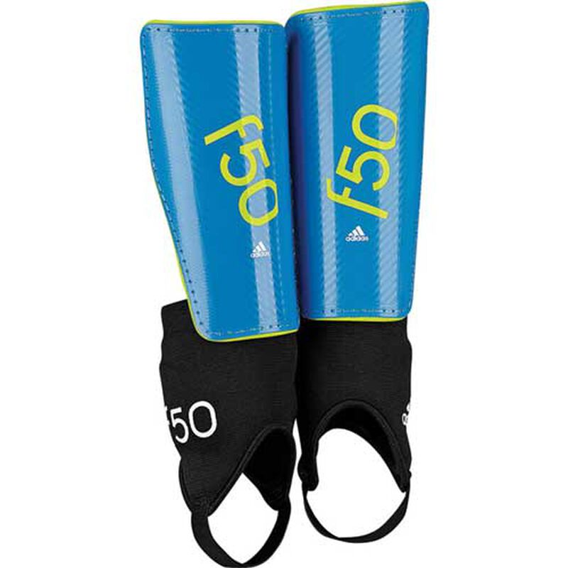 Youth F50 Shin Guards, Blue, large image number 0
