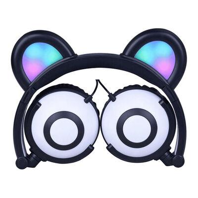 Gabbagoods LED Panda Wired Headphones