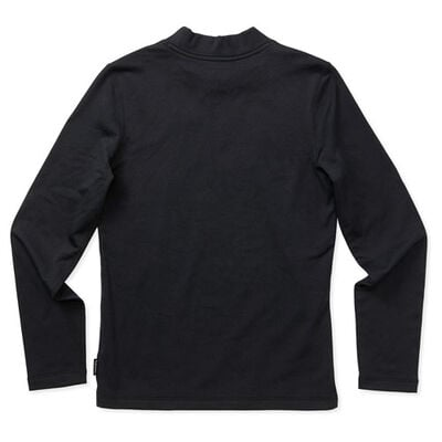 Boys' Long Sleeve Cold Weather Mock, Black, large