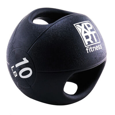 Xprt Fitness 10LB Dual Grip Fitness Medicine Ball