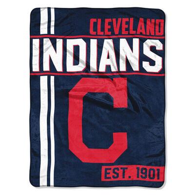 Northwest Co Cleveland Indians Micro Raschel Throw Blanket