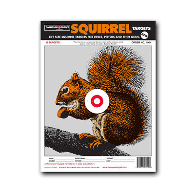 """Thompson Center Small Squirrel 9""""x12"""" Targets 12 pack"""