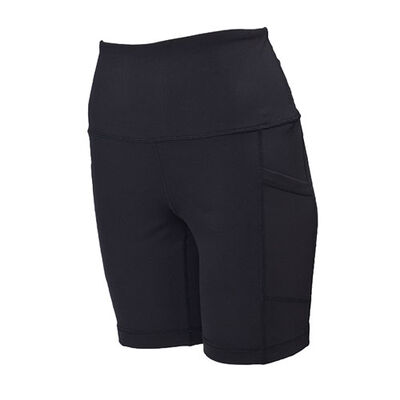 """Yogalicious Women's Lux High Rise 7"""" Side Pocket Shorts"""