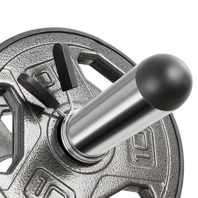 Olympic Curl Bar and Dumbbell Handle Set, , large