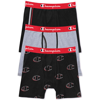 Champion Men's Everyday Comfort Boxer Briefs 3-Pack