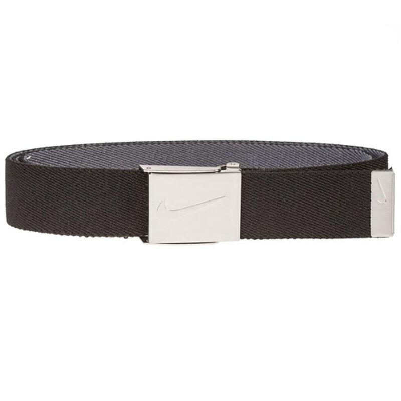 Men's Reversible Stretch Webbing Golf Belt, Black/Gray, large image number 0