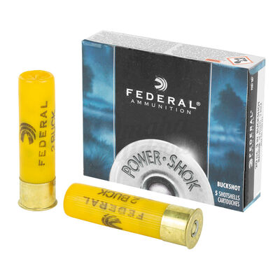 "Federal Power Shok 20 Gauge 3"" Buckshot Ammunition"
