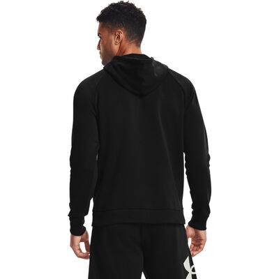 Men's Rival Fleece Big Logo Hoodie, Black, large
