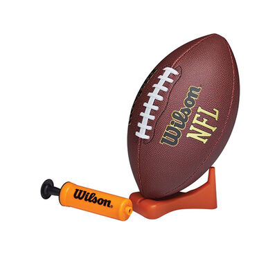NFL Junior Football with Pump and Tee, , large