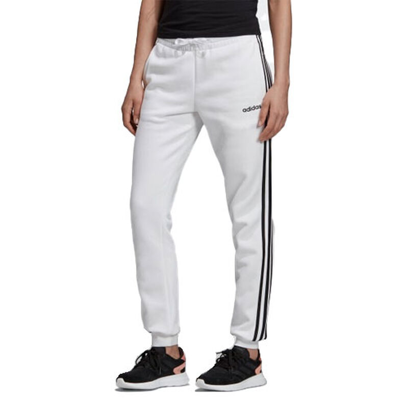 Women's Essentials 3-Stripes Jogger, White, large image number 0