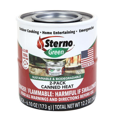 Sterno Canned Heat Outdoor Cooking Fuel 2-Pack
