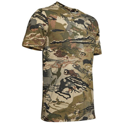 Men's Short Sleeve Scent Control Camo Hunting Tee, , large