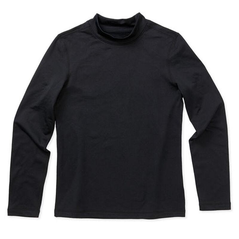 Boys' Long Sleeve Cold Weather Mock, Black, large image number 0
