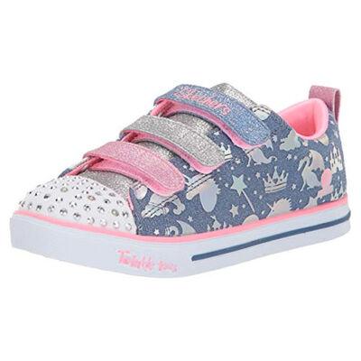 Skechers Girls' Sparkle Lite Light-up Sneakers