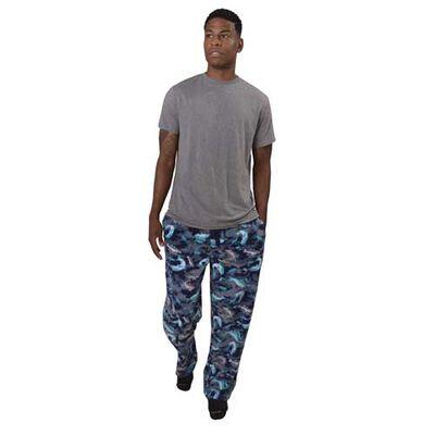 Canyon Creek Men's Blue Camo Bass Lounge Pants