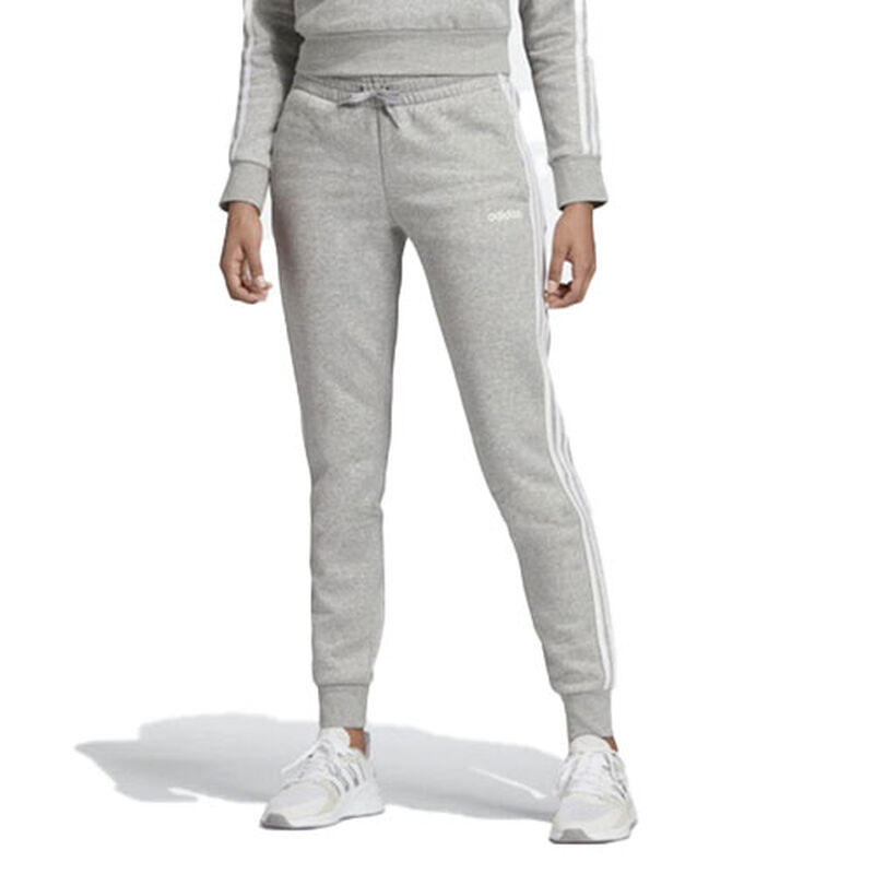 Women's Essentials 3-Stripes Jogger, Heather Gray, large image number 0