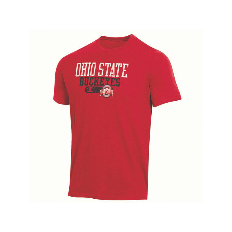Ohio State Bar Script Short Sleeve Tee, Red, large image number 0