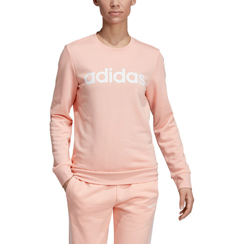 Women's Essentials Linear Training Sweatshirt, Pastel Pink,Theatrical, large image number 0