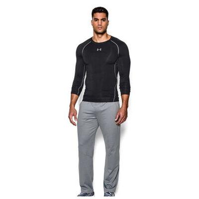 Men's HeatGear Armour Compression Long Sleeve Tee, Black, large