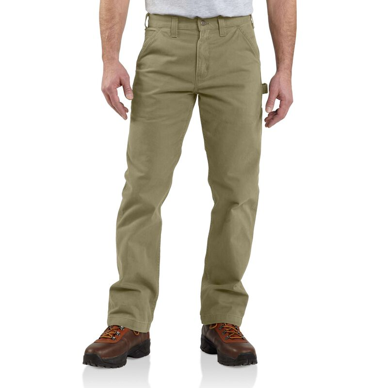 Men's Washed Twill Relaxed Fit Work Pants, , large image number 0