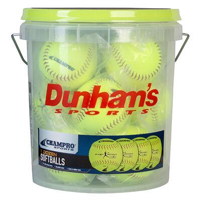 Champro 12 Pack Softballs and Coach's Bucket