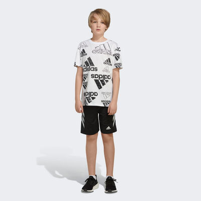 adidas Boys' Short Sleeve Brand Love Tee