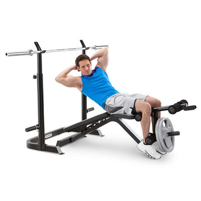Olympic Weight Bench with Squat Rack and Leg Developer, , large