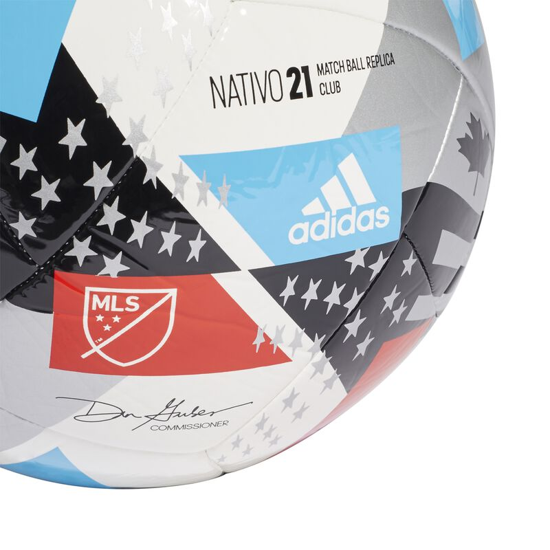 MLS Nativo XXV Club Soccer Ball, Red, White And Blue, large image number 3