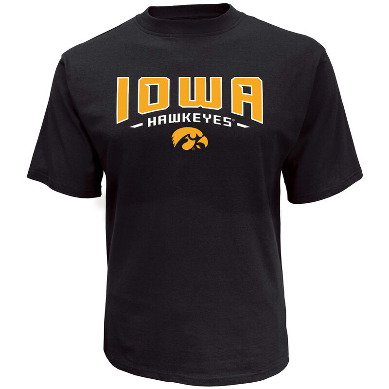 Men's Short Sleeve Iowa Classic Arch Tee, Black, large image number 0
