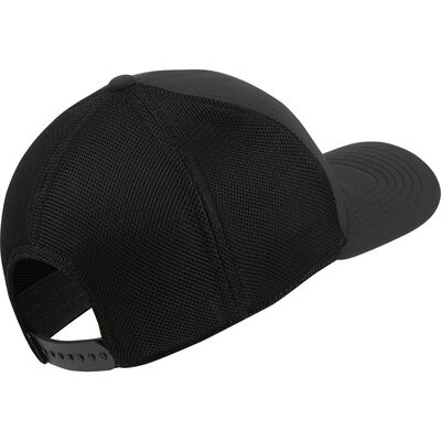 AeroBill Classic99 Mesh Golf Hat, Black/White, large