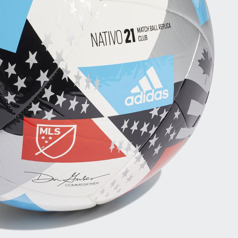 MLS Nativo XXV Club Soccer Ball, Red, White And Blue, large image number 2