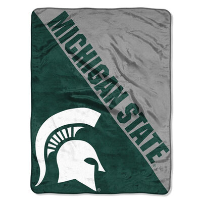 Northwest Co Michigan State Micro Raschel Throw Blanket