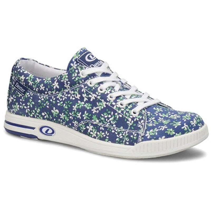 Women's Katie Blue Floral Bowling Shoes, , large image number 0