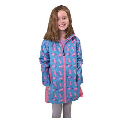Girls' Unicorn Ombre Rain Jacket, , large