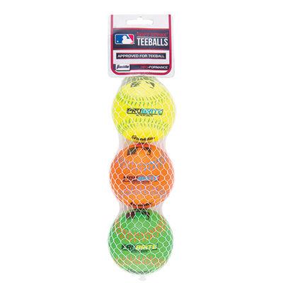 Franklin 3 Pack Pro Brite Neon Rubber Teeballs