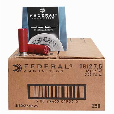 Federal Top Gun Target Lead Loades 7.5 Case