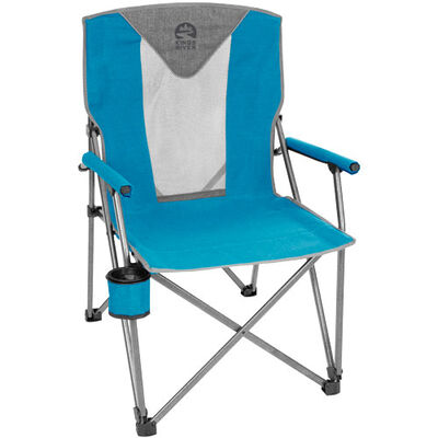 Deluxe Hard Arm Chair, Blue, large