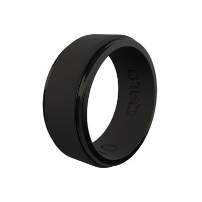 Qalo Men's Step Edge Polished Silicone Ring