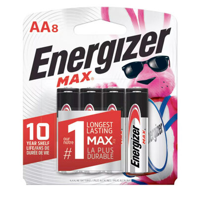Energizer Max AA Batteries 8-Pack