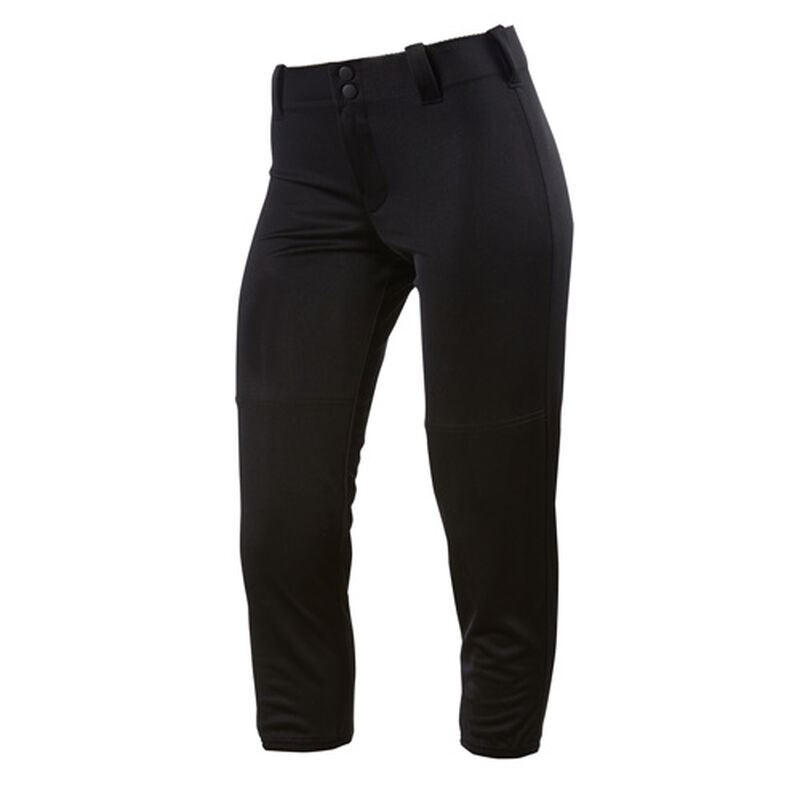 Women's Slap Hit Belted Softball Pant, Black, large image number 0