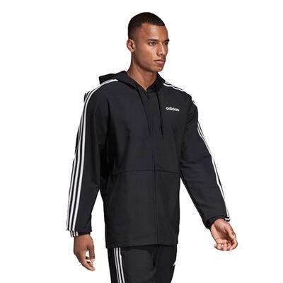 adidas Men's Essential 3 Stripe Woven Front Zip Jacket