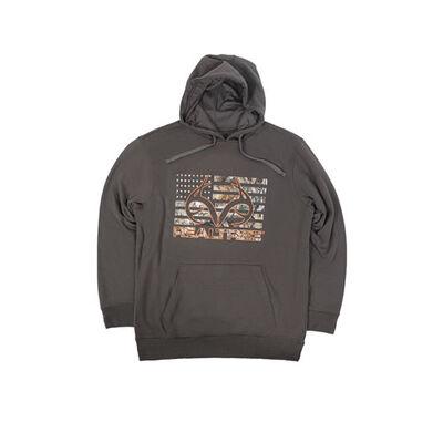 Men's Fleece Hoodie, Charcoal,Smoke,Steel, large