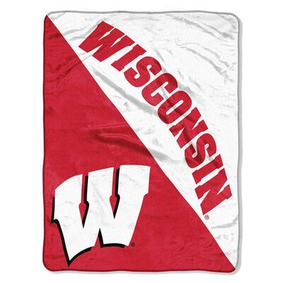 Northwest Co Wisconsin Micro Raschel Throw Blanket