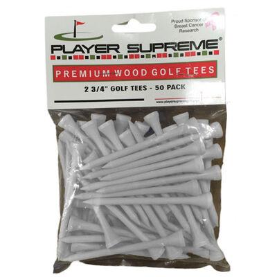 """Jp Lann 2.75"""" Premium Wood Golf Tees - 50 Pack"""