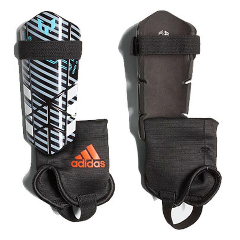 Youth Messi 10 Shin Guards, Gray/Red, large image number 0