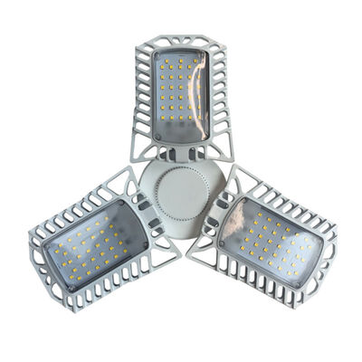 6000-Lumen White Adjustable LED Garage Light