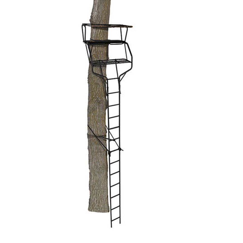 18' Crossfire XT 2 Man Ladder Treestand, , large image number 1