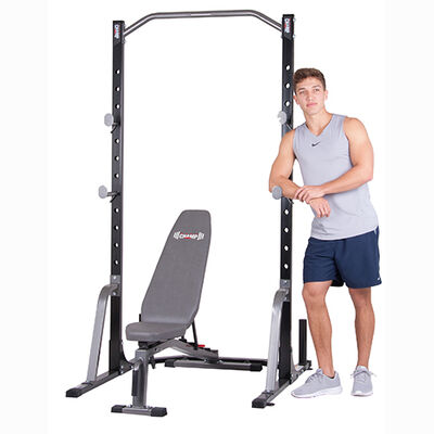 2 Piece Power Rack With Utility Bench, , large